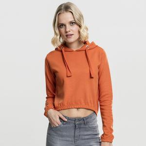 Dámská mikina Urban Classics Ladies Interlock Short Hoody rustorange
