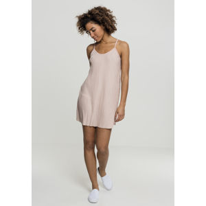 Urban Classics Ladies Jersey Pleated Slip Dress lightrose