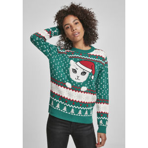 Urban Classics Ladies Kitty Christmas Sweater x-masgreen