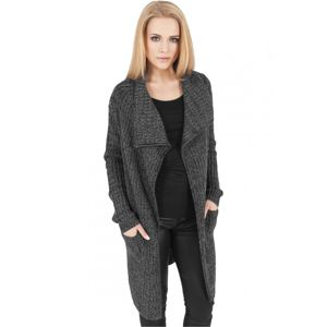 Urban Classics Ladies Knitted Long Cape charcoal