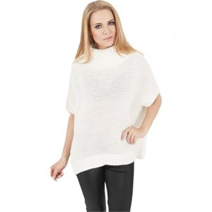 Urban Classics Ladies Knitted Poncho offwhite