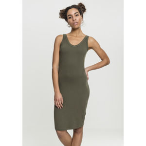 Urban Classics Ladies Lace Up Dress olive