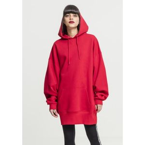 Urban Classics Ladies Long Oversize Hoody fire red