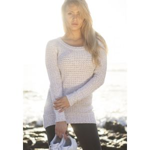 Urban Classics Ladies Long Wideneck Sweater offwhite