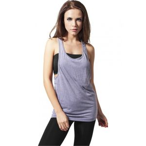 Urban Classics Ladies Loose Burnout Tank denimblue