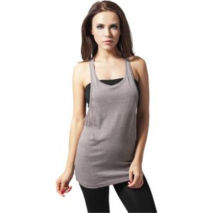 Urban Classics Ladies Loose Burnout Tank olive