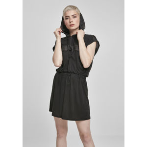 Urban Classics Ladies Modal Hoody Dress black/black