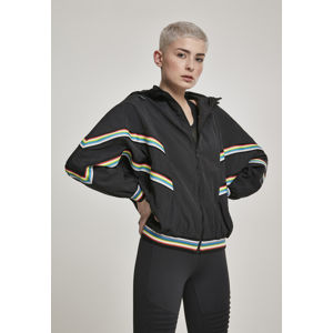 Urban Classics Ladies Multicolor Rib Batwing Windbreaker black