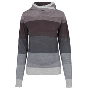 Urban Classics Ladies Multicolored High Neck Hoody burgundy/multicolor