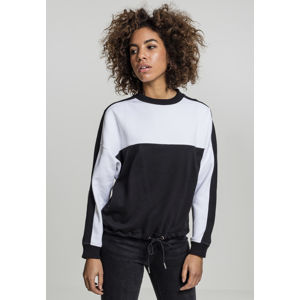 Urban Classics Ladies Oversize 2-Tone Stripe Crew black/white