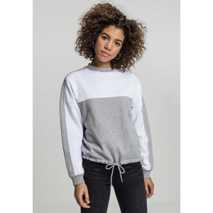 Urban Classics Ladies Oversize 2-Tone Stripe Crew grey/white