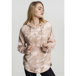 Dámská mikina Urban Classics Ladies Oversized Camo Hoody rose camo