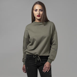 Urban Classics Ladies Oversized Crew olive