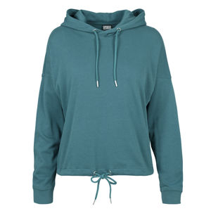 Dámská mikina Urban Classics Ladies Oversized Gathering Hoody teal