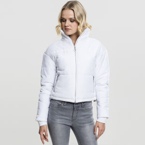Urban Classics Ladies Oversized High Neck Jacket white