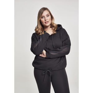 Urban Classics Ladies Oversized Tech Mesh Inset Hoody black