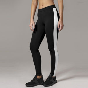 Urban Classics Ladies Retro Leggings blk/wht