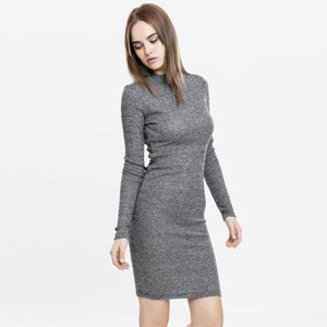 Urban Classics Ladies Rib Dress charcoal