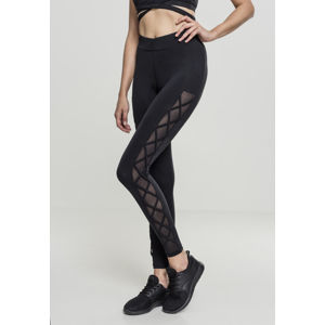 Urban Classics Ladies Ribbon Mesh Leggings black