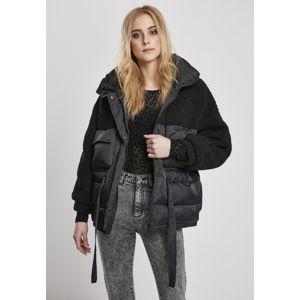 Urban Classics Ladies Sherpa Mix Puffer Jacket black