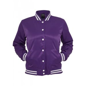Urban Classics Ladies Shiny College Jacket pur/wht