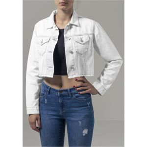 Urban Classics Ladies Short Denim Jacket white