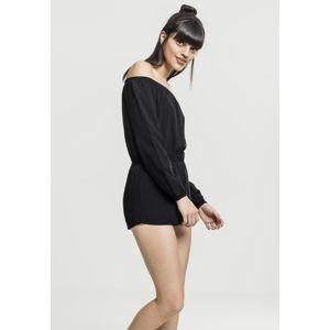 Urban Classics Ladies Short Longsleeve Overall black