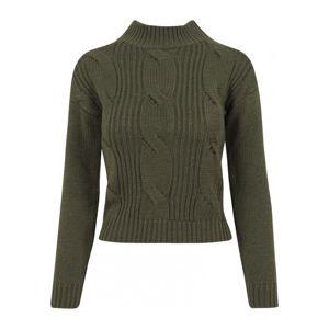 Urban Classics Ladies Short Turtleneck Sweater olive