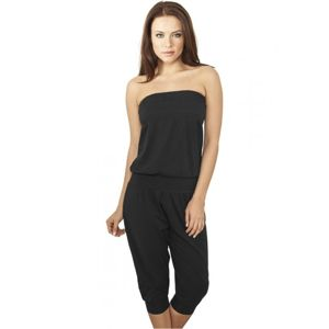Urban Classics Ladies Shoulderfree Capri Jumpsuit black
