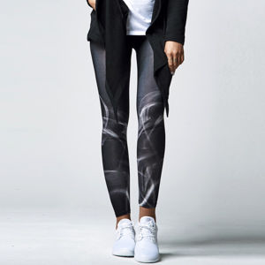 Urban Classics Ladies Smoke Leggings blk/wht