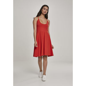 Urban Classics Ladies Spaghetti Dress bloodorange
