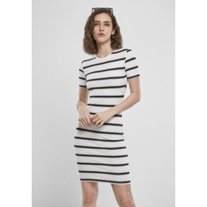 Urban Classics Ladies Stretch Stripe Dress white/black