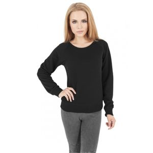 Urban Classics Ladies Stripe Quilt Raglan Crew black