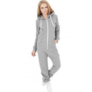 Urban Classics Ladies Sweat Jumpsuit gry/wht