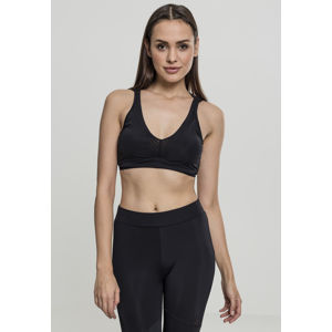 Urban Classics Ladies Tech Mesh Crossback Bra black