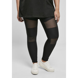 Urban Classics Ladies Tech Mesh Rib Leggings black