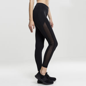 Dámské legíny Urban Classics Ladies Tech Mesh Stripe Leggings black