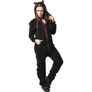 Urban Classics Ladies Teddy Jumpsuit blk/fuc