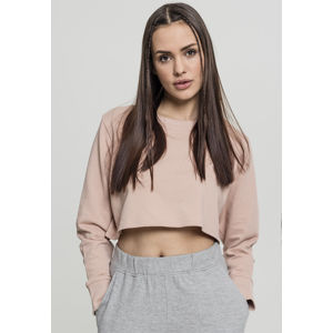 Urban Classics Ladies Terry Cropped Crew lightrose