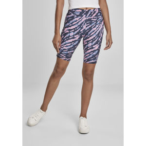 Urban Classics Ladies Tie Dye Cycling Shorts darkshadow/pink