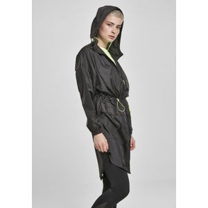 Urban Classics Ladies Transparent Light Parka black/electriclime