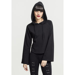 Urban Classics Ladies Tube Sleeve Hoody black
