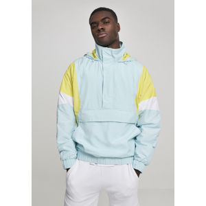 Urban Classics Light 3-Tone Pull Over Jacket lightblue/brightyellow/white
