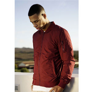 Urban Classics Light Bomber Jacket burgundy