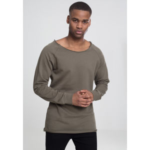 Urban Classics Long Open Edge Terry Crewneck olive