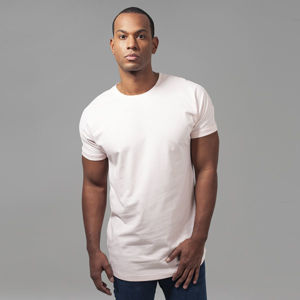 Urban Classics Long Shaped Turnup Tee pink