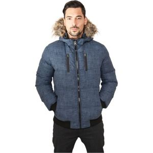 Urban Classics Melange Expedition Bubble Jacket blue melange