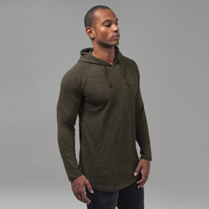 Urban Classics Melange Shaped Hoody olive/black
