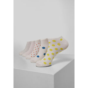 Urban Classics No Show Socks Dots 5-Pack multicolor