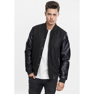 Urban Classics Oldschool College Jacket blk/blk